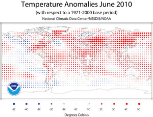 End of the World June 2010 Heat Wave Anomalies